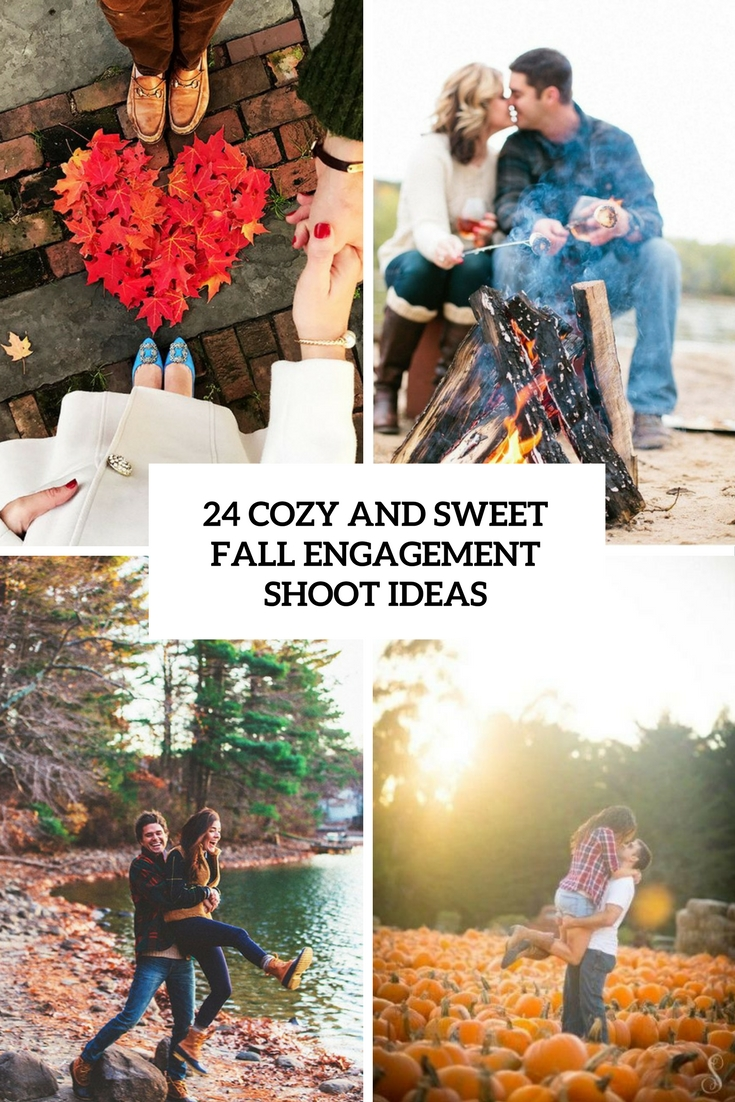24 Cozy And Sweet Fall Engagement Shoot Ideas