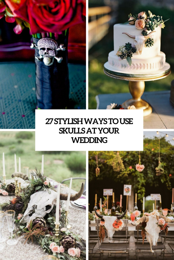 stylish ways to use skulls at your wedding cover