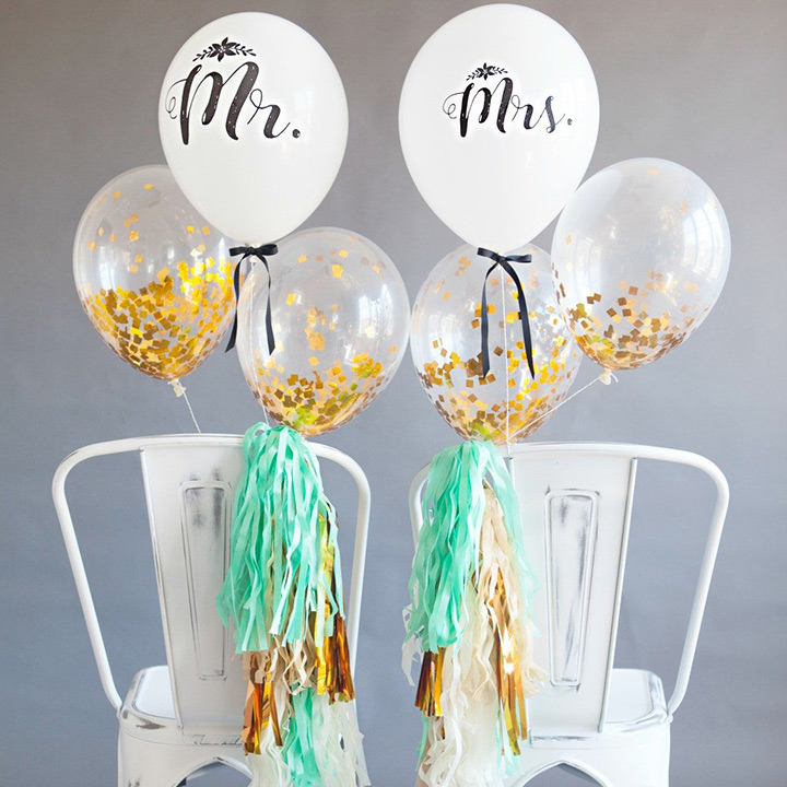 31 cheerful wedding balloon ideas that inspire weddingomania for Balloon decoration for weddings