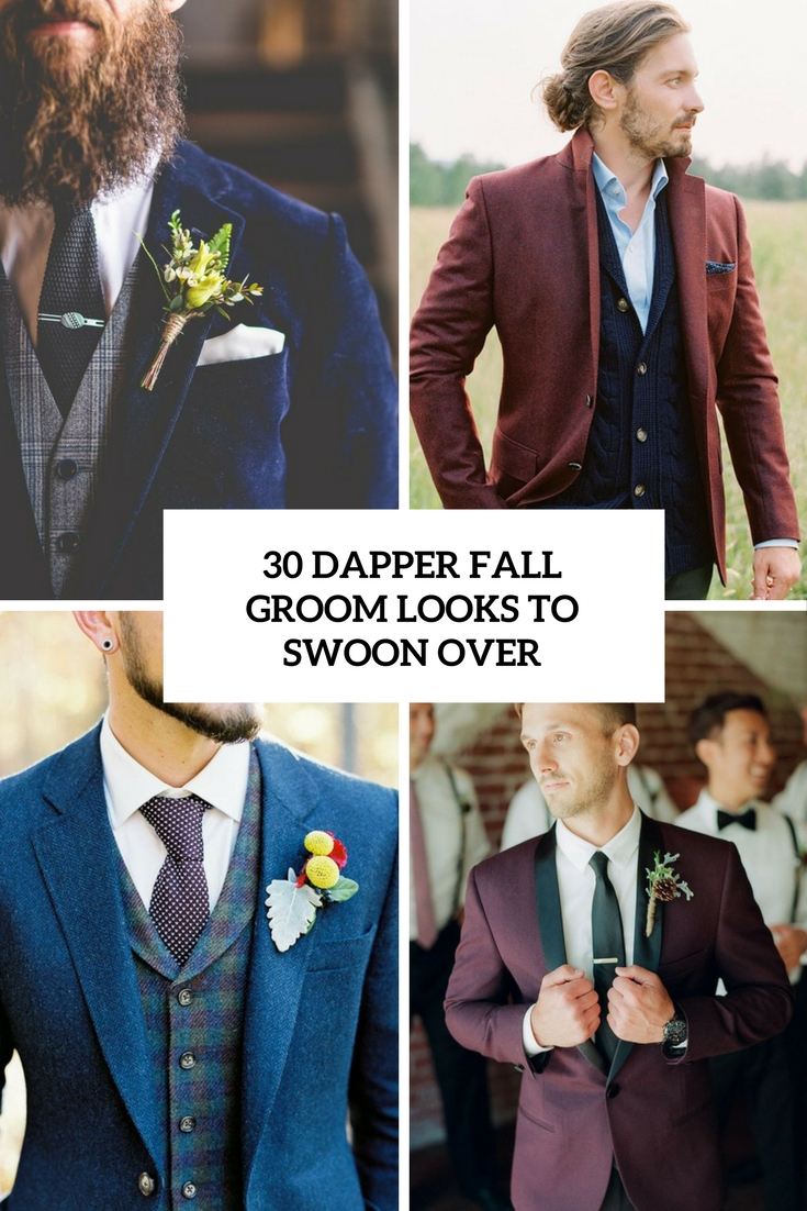 dapper fall groom looks to swoon over cover