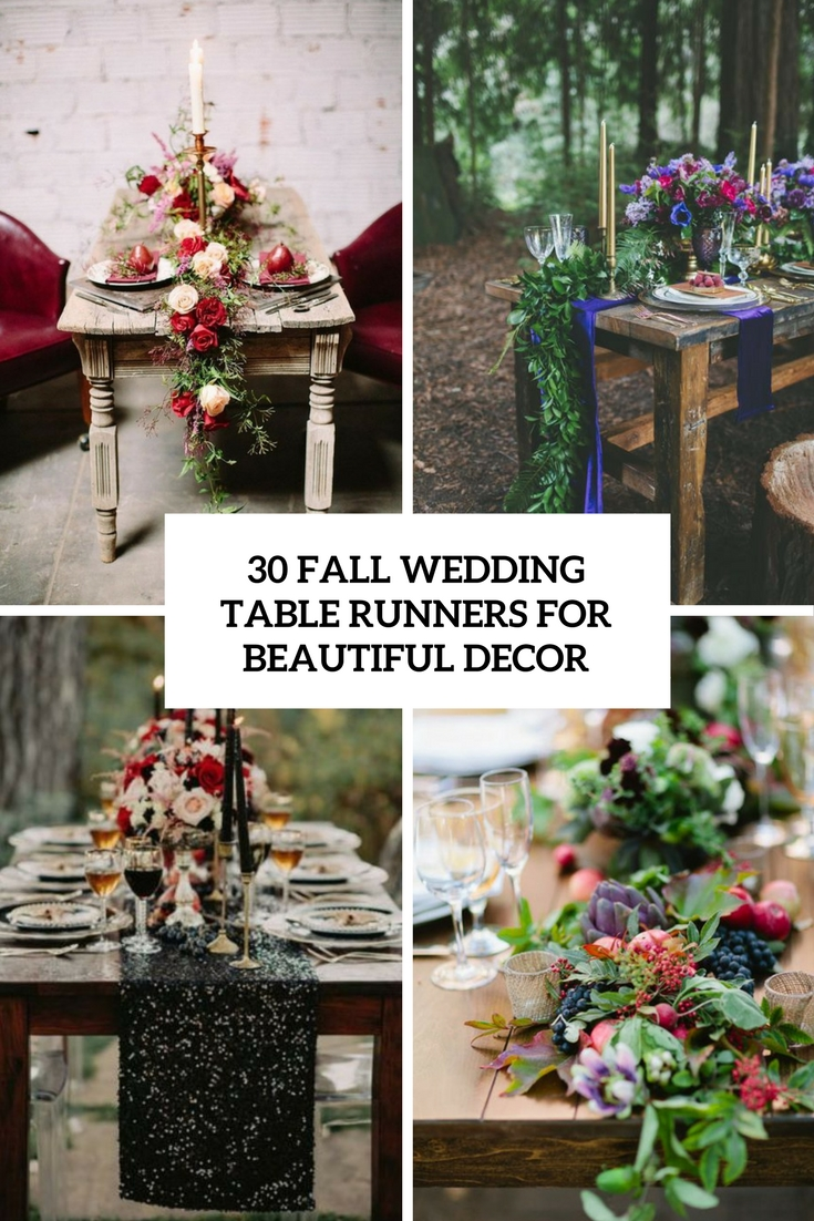 fall wedding table runners for beautiful decor cover