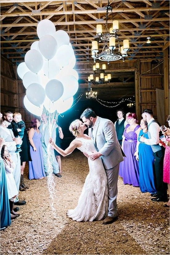 lit up white wedding balloons for stunning pics - no need for a bouquet