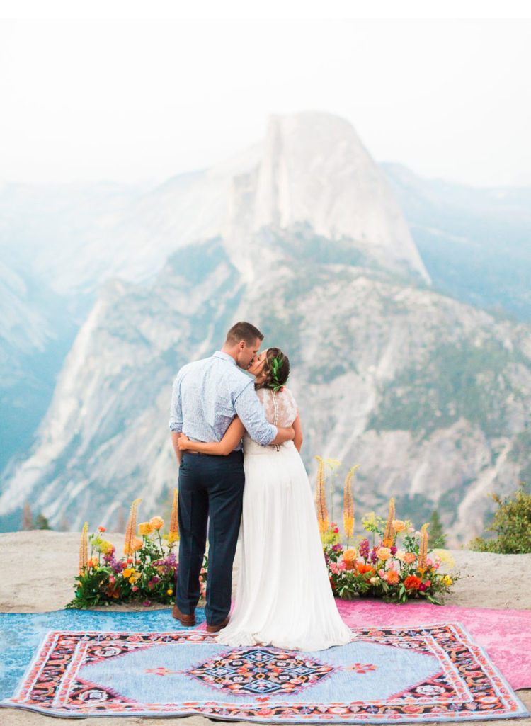 This beautiful elopement shoot took place in Yosemite National Park and if filled with gorgeous views