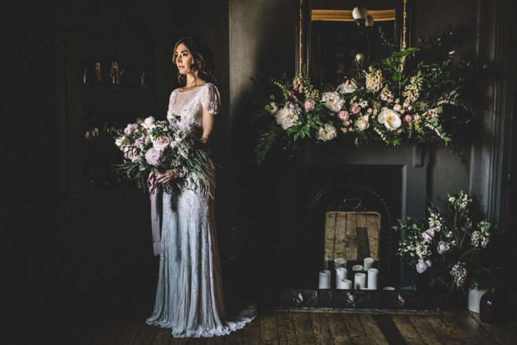 Romantic And Refined Dark Hues Wedding Shoot