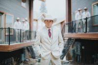 cowboy groom's hat