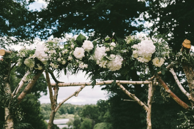 This wedding arch was made from scrap by the bride's father