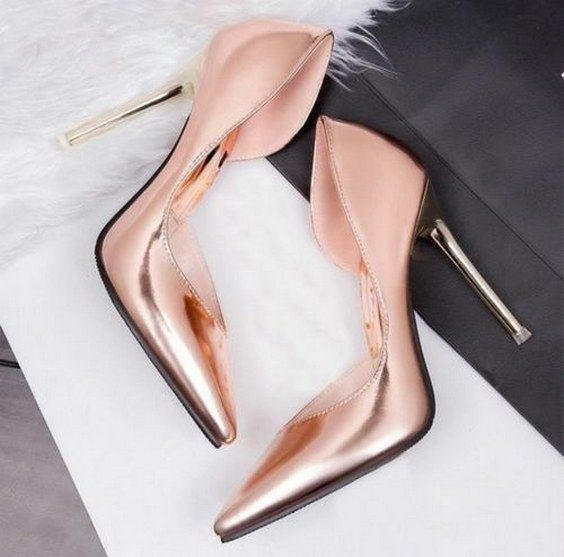 stunning copper wedding pumps for brides