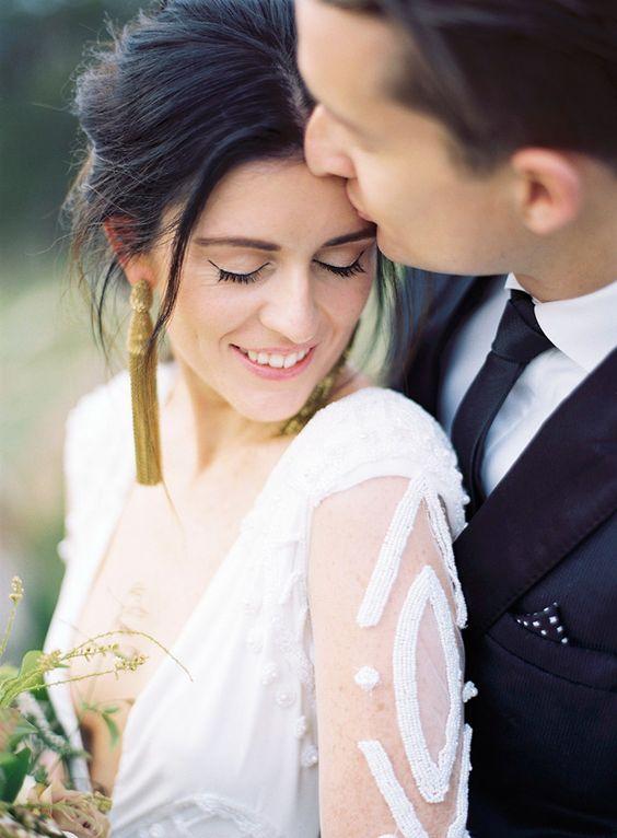 gold Quaste Ohrringe für einen modischen und verspielten Braut-look