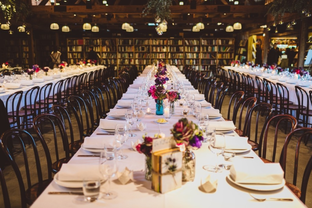 book themed wedding decor