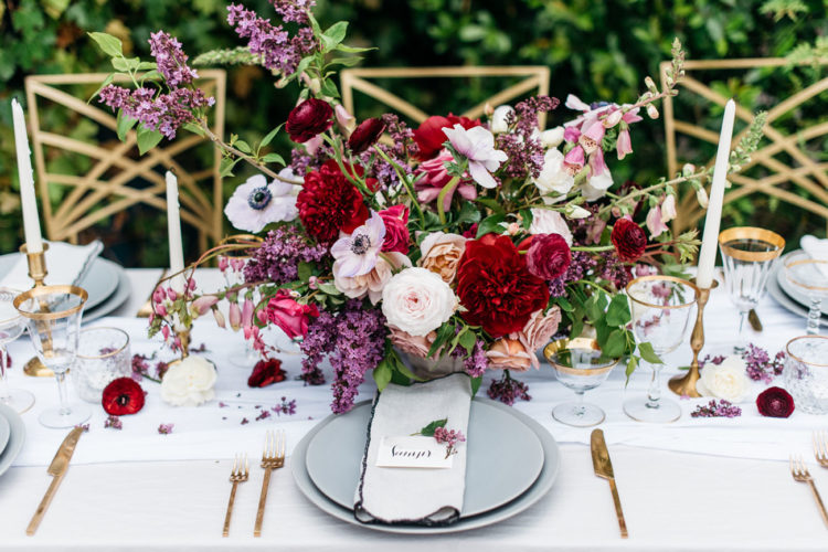 The wedding centerpiece was done in red, white and dusty pink, it was bold and contrasting