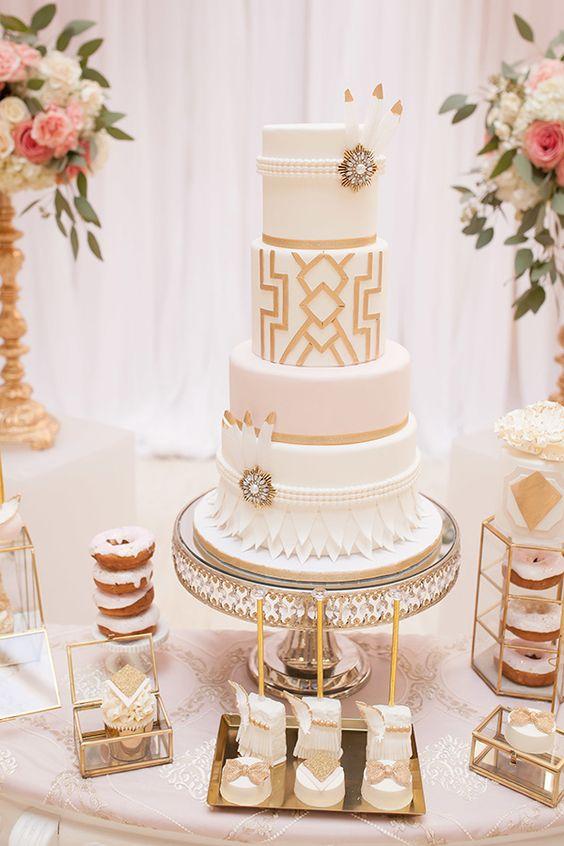Large Wedding Cake Brooches
