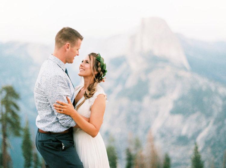 Die Landschaft war die perfekte Kulisse für Hochzeitsfotos