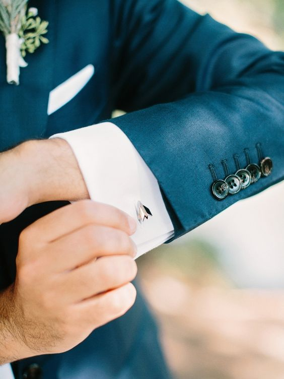 stylish Cartier cufflinks will make your groom's look accentuated and chic