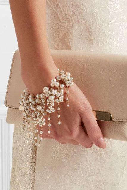 Perlen sind eine zeitlose Idee für jede Braut, werden Sie nie gehen Sie aus of Stil
