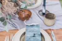 09 coastal indigo wedding place cards with ropes