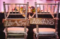 10 Harry Potter inspired signs for the couple's chairs look wow