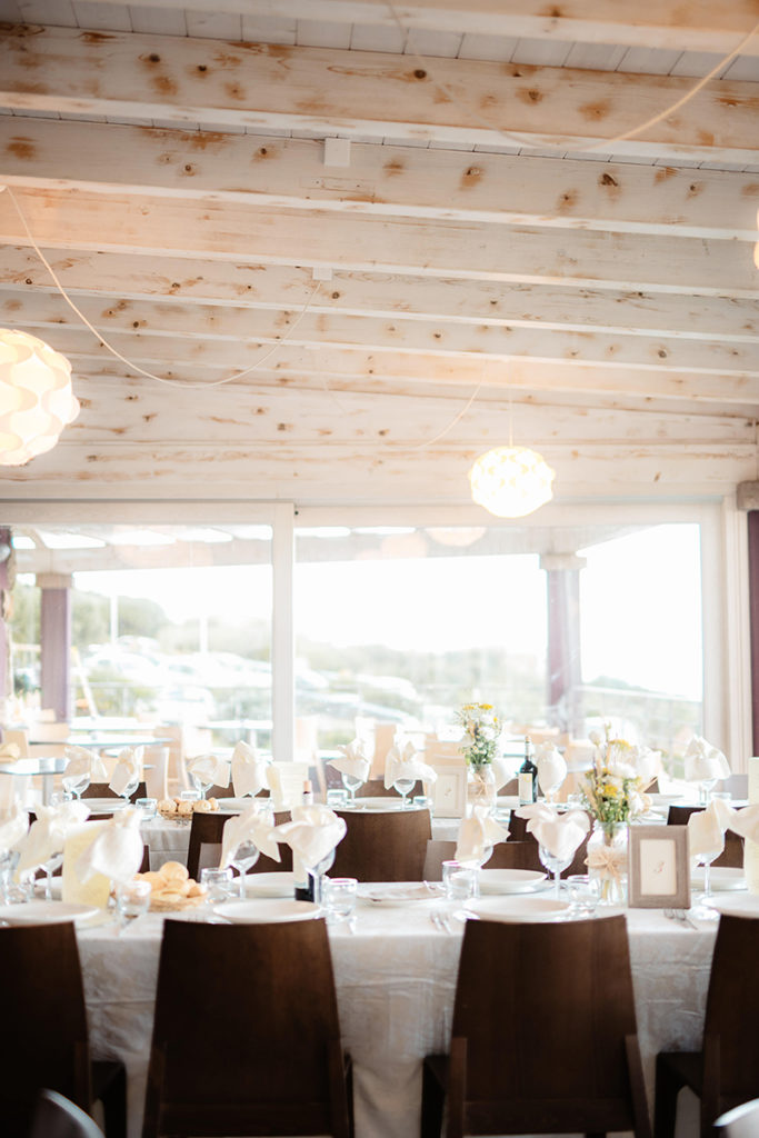 The venue was neutral, chic and beautiful, not much decor was required