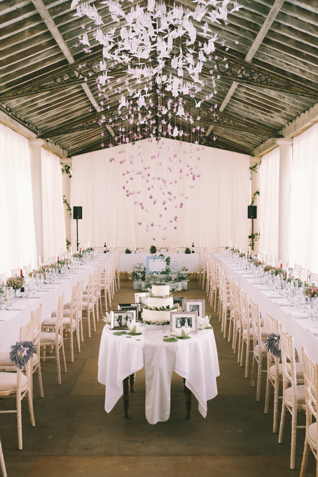 The wedding venue looked cool and effortlessly chic