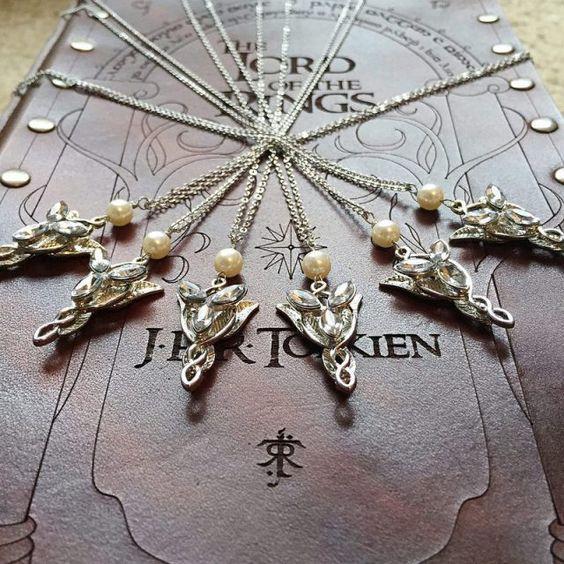 Halsketten inspiriert durch arwens für Brautjungfern Geschenke zu tragen auf Ihren großen Tag