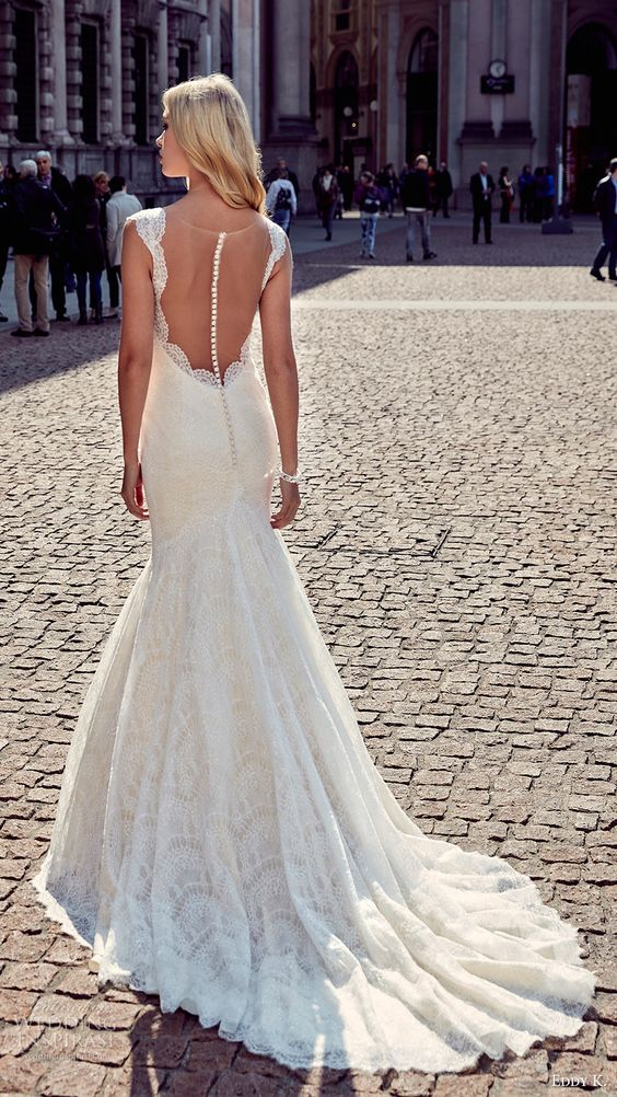 29 most beautiful illusion back wedding dresses for Wedding dresses without sleeves