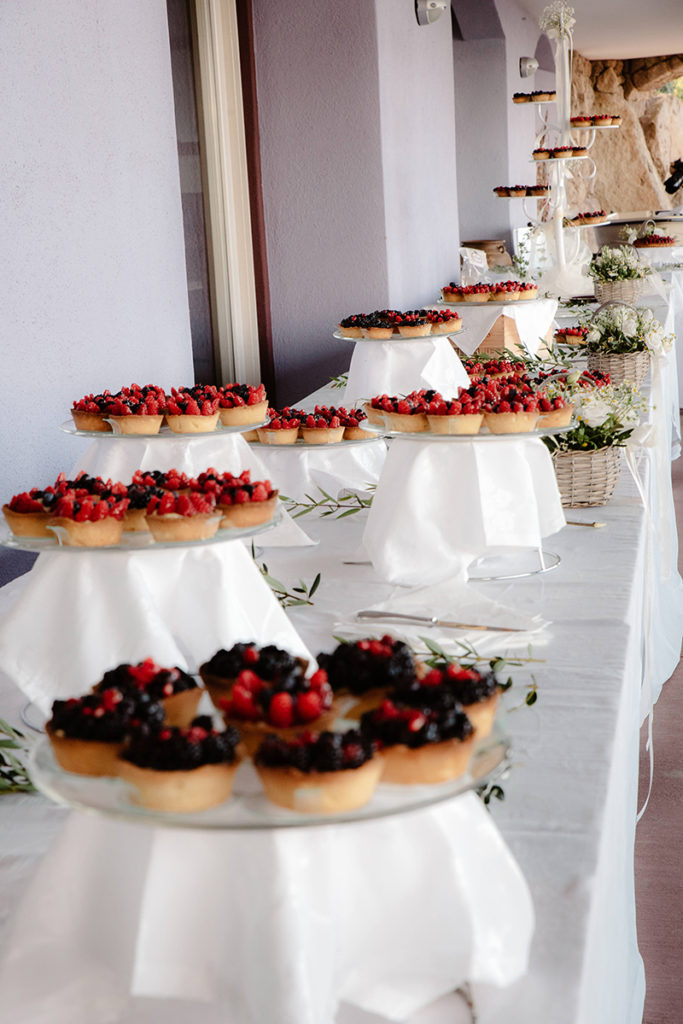 Gorgeous Italian cuisine and desserts were served for the wedding