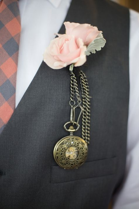give him a vintage pocket watch as an accessory and add an engraving