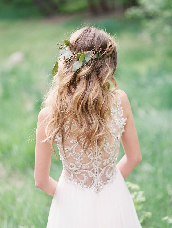 sleeveless wedding dress with a beaded illusion back by Maggie Sottero