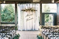 16 the wedding backdrop is inspired by Harry Potter quotes