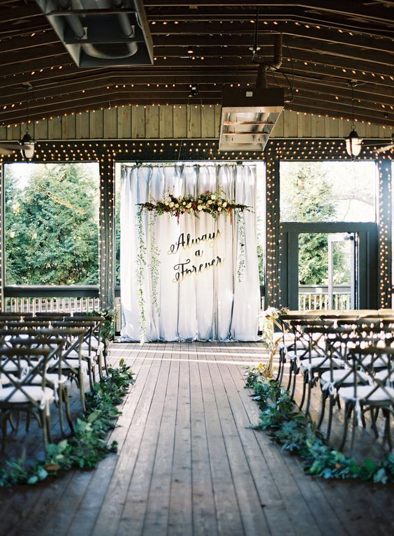 Picture of the wedding backdrop is inspired by harry potter quotes junglespirit