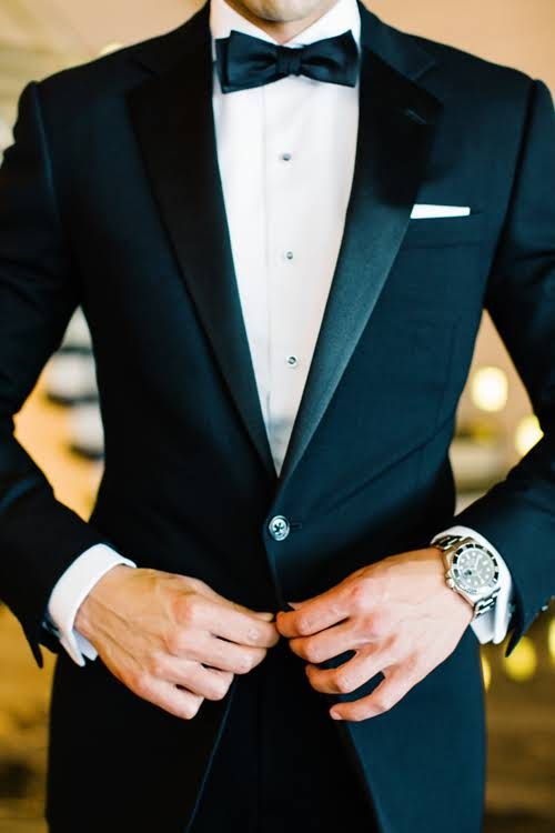 a gorgeous modern watch looks nice both with a classic tuxedo and a casual outfit