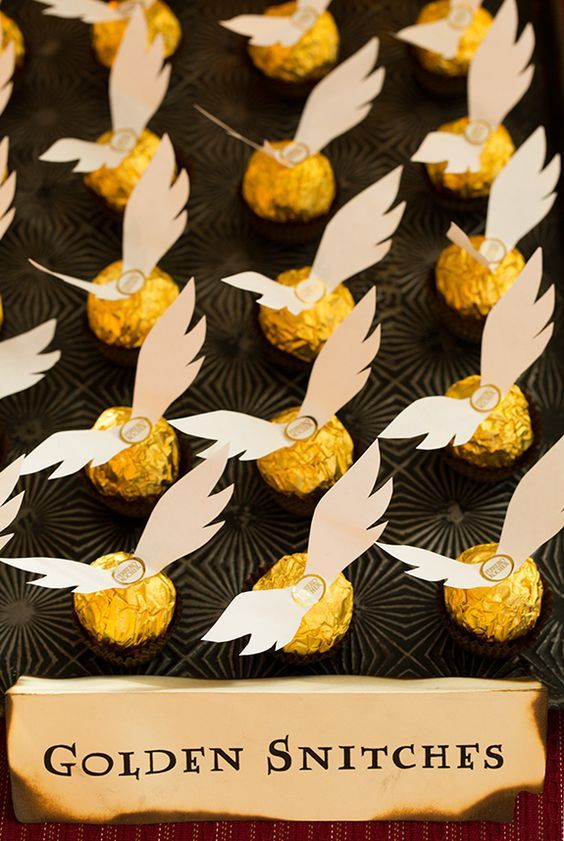 add wings to a Ferrero Rocher and you get instant golden snitch favours