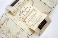 22 the Marauder Map as a wedding invitation – what can be cooler