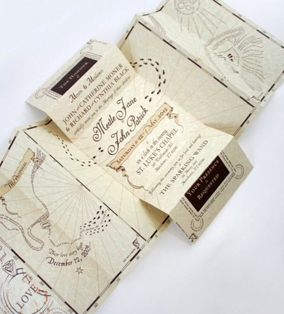 the Marauder Map as a wedding invitation - what can be cooler