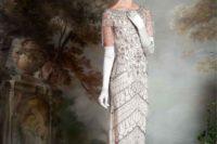 fringed wedding dress
