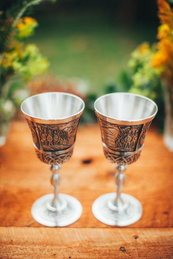 Herr der Ringe inspirierten Hochzeit Becher
