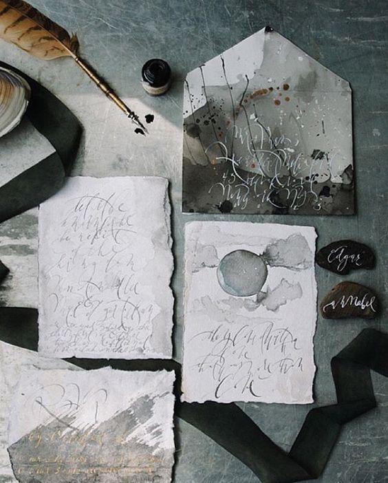 28 Trendige Moody ' Hochzeit Briefpapier Ideen