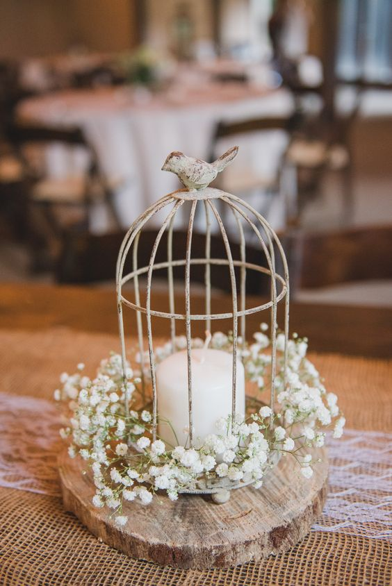 Stylish birdcage wedding centerpieces weddingomania