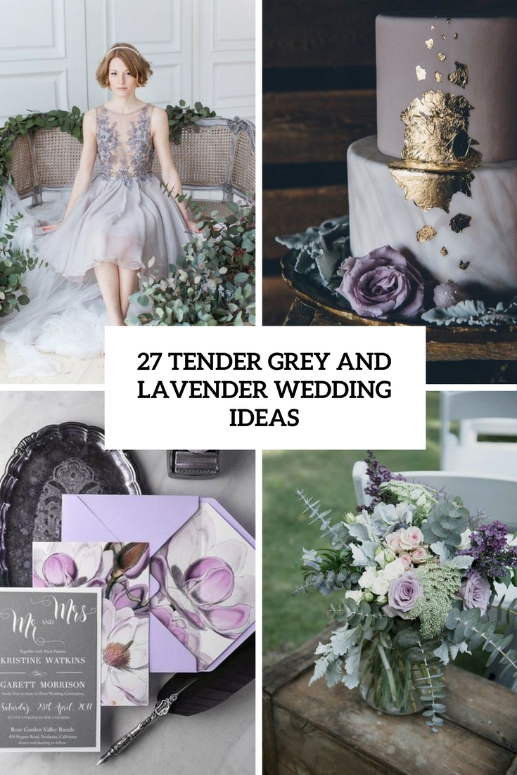 tender grey and lavender wedidng ideas cover