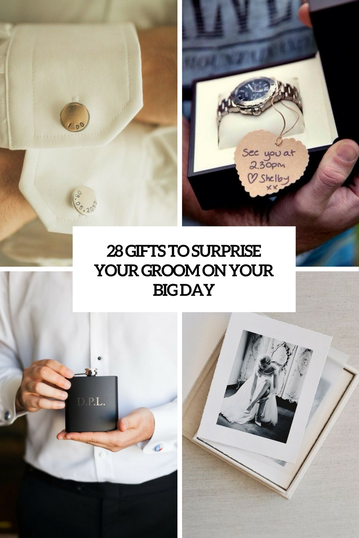 gifts to surprise your groom on your big day cover
