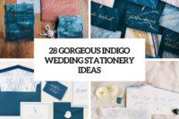 28 gorgeous indigo wedding stationery ideas cover