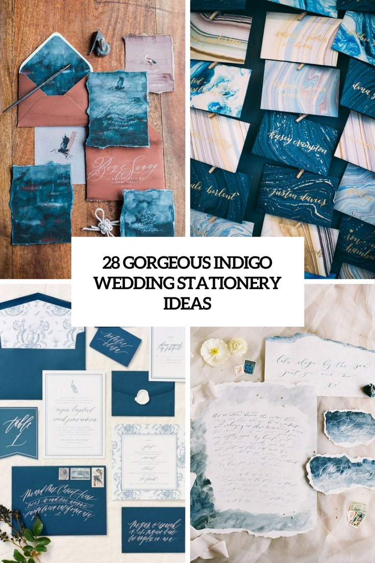 gorgeous indigo wedding stationery ideas cover