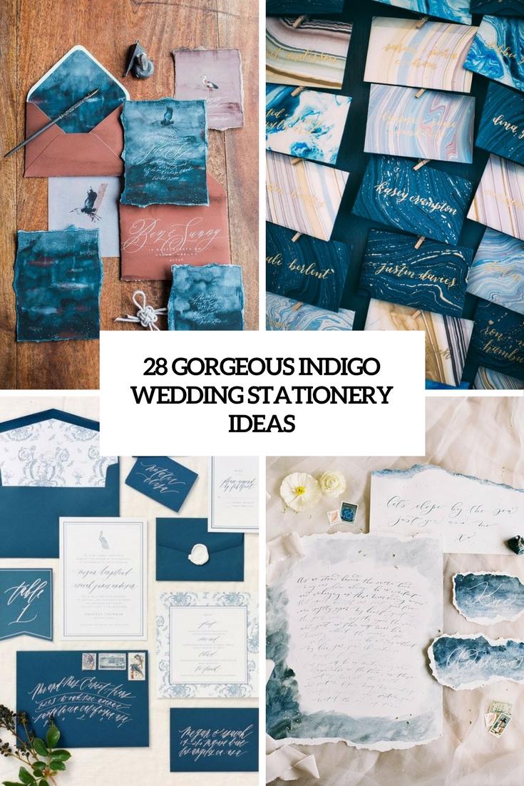 28 Gorgeous Indigo Wedding Stationery Ideas