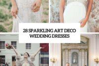 28 sparkling art deco wedding dresses cover