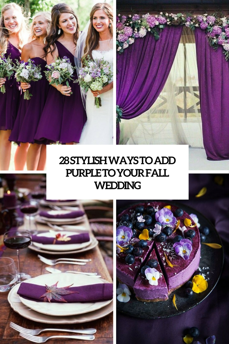 stylish ways to add purple to your fall wedding cover