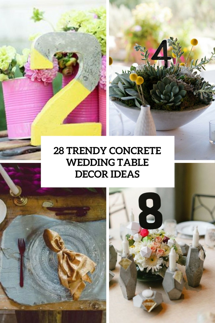 trendy concrete wedding table decor ideas cover