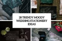 28 trendy moody wedding stationery ideas cover