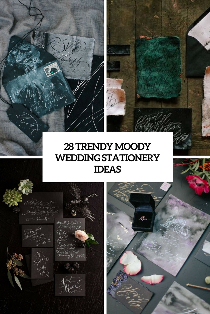 28 Trendy Moody Wedding Stationery Ideas
