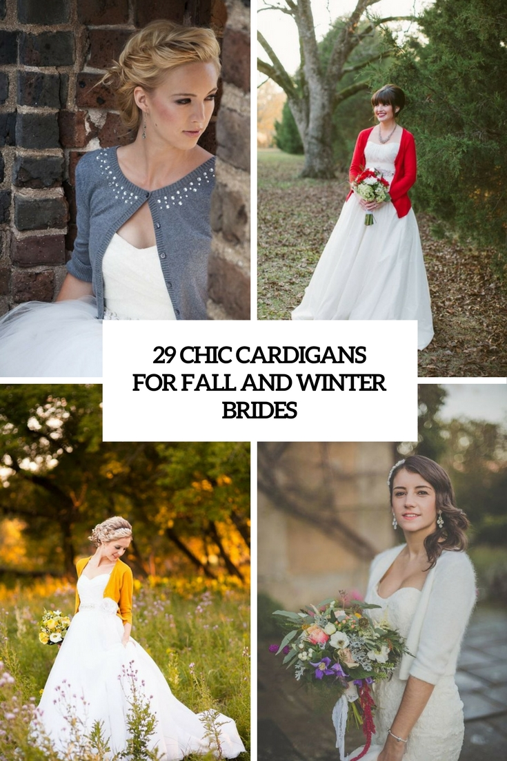 chic cardigans for fall and winter brides cover