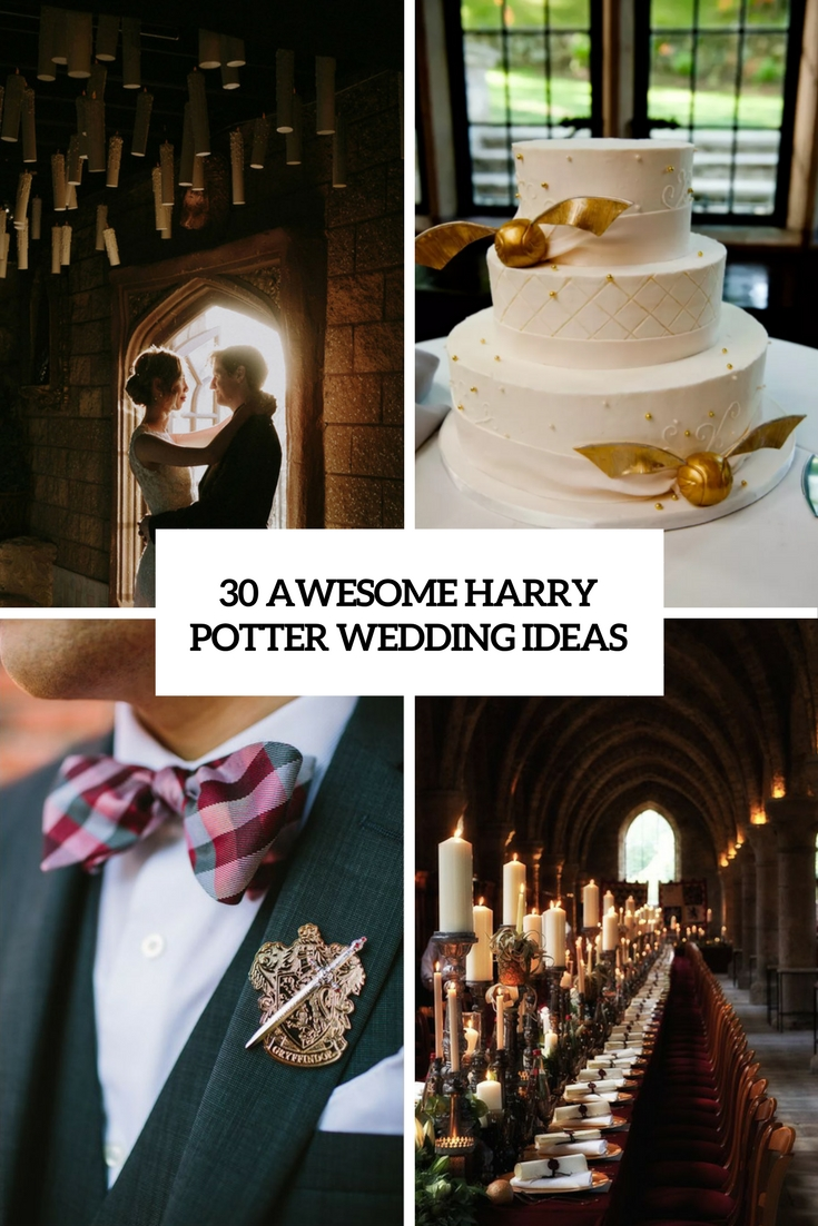 awesome harry potter wedding ideas cover
