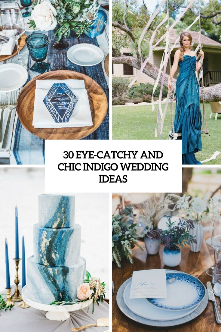 eye catchy and chic indigo wedding ideas cover